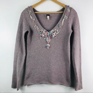 Free People | We The Free Purple Sweater